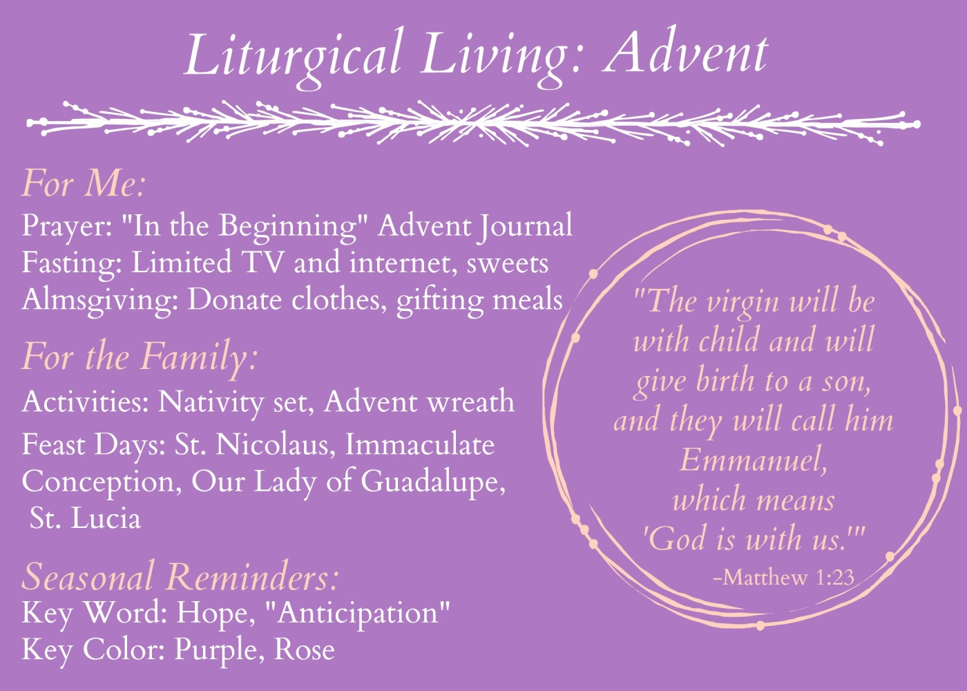 Liturgical living Advent