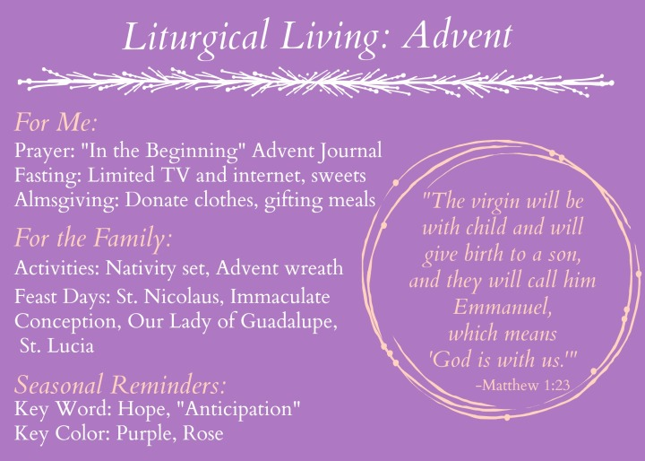 Liturgical living Advent